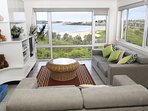 Living room with View to Manly