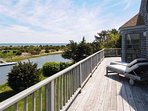 First Floor deck - Nantucket Sound and Sweetheart Creek in the background