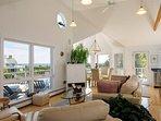 Second Floor Living Room - Nantucket Sound in the background