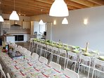 NEW! for Groups: 50 persons place to eat and party together.
