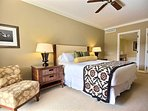 Master bedroom offers a sumptuous king size bed