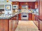 Prepare meals or refreshments in the professional chef's kitchen