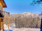 Unbelievable views of the ski runs at the Caretake Suite
