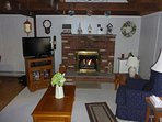 Living Room with Remote Controlled Gas Fireplace