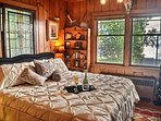 Cowboy King or Honeymoon Suite, Armoire, Dresser & Luggage Storage.