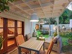 le coin repas veranda
