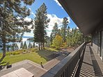 The home features stunning lake views to compliment the expansive estate