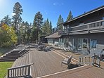 The back deck is the perfect place to entertain, or relax