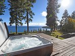 After a long day on the lake or mountain, relax in the hot tub and take in the beauty of Lake Tahoe