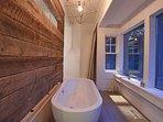 There's even a bathtub!