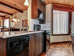 The large countertops offer lots of space for cooking
