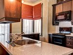 The countertops offer lots of space to prepare your meals