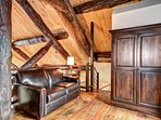 Wooden floors throughout the condo