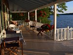 You feel as though you are on your own private yacht when enjoying the porch.
