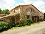 Situated in a quiet hamlet. La Nauliere front of the Gite