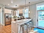 1st Floor Kitchen Feat. Stainless Steel Appliances and Breakfast Bar