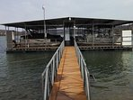 Dock where our pontoon is.  Swim Deck next to our Slip!