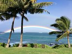 or view from the ocean side. Rainbow is real!!!