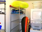 Laundry Room with plenty of Beach toys for our guests' enjoyment