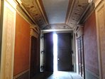 House entrance, with stunning Roman style affresco.