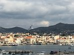 Aegina Town at Winter time, arriving to the port