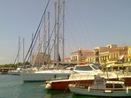 Aegina Town at summer time