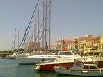 Aegina Town at summer time