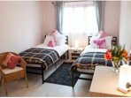 Double or twin bedrooms to prepared suite your party