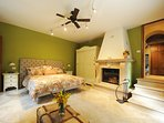 MONTALCIANO Bedroom with Wood Burning Fireplace and King or 2 Twins