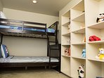 Twin bunk beds.