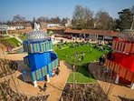 The playground at Hampton Court Palace, a massive hit with kids
