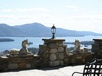 Front Terrace overlooking beautiful Lake George.
