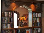 Library bookcase.