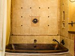 You'll love the grand copper tub (with shower) in The Royal Bedroom.