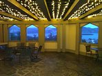 The King's Suite private covered terrace with beautiful views of Lake George!