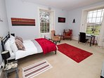 beautifully cosy spacious room with extra comfy bed.