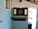 Dart Board in the Outdoor Kitchen Area
