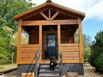 Paradise Cozy Cabins welcomes all dogs.  3 miles from Tryon International Equestrian Center