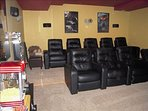 Theatre room. Plenty of DVD's and premium channels