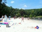 Cunningham State Park 45 minutes away with life guard and boat rentals