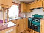 Spacious kitchen area at Lee Holiday Park.