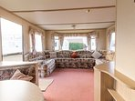 Lounge area at Lees Holiday Park hire one of our caravans.
