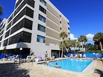 Arie Dam in Madeira Beach has a heated pool and spa, secure lobby and parking