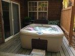 Hot Tub Outside Bedroom 2