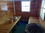 Inside Sauna Cottage