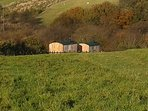 Escape from it all - Shepherds Hut  (Hide & Sea pictured on left)