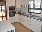 New modern fitted kitchen incl: oven, hob, microwave and dishwasher
