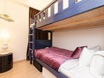 4th bedroom with bunk bed!