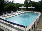 The beautiful swimming pool