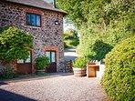 Cedar cottage shared courtyard
